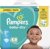 Pampers Baby-Dry Maat 5+, 70 Luiers, Tot 12 Uur Bescherming, 12-17kg