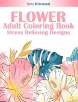 Flower Adult Coloring Book Stress Relieving Designs