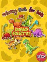 DINO PARTY Coloring book for kids