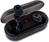 LifeGoods Draadloze Oordopjes - Wireless Bluetooth 5.0 Earbuds - met Oplaadcase - Waterproof - Zwart