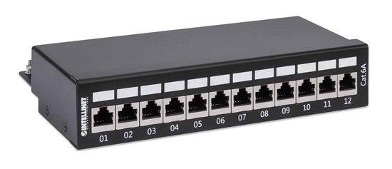 INTELLINET 12-Port Cat6a Patchpanel FTP Desktop zwart