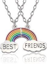 Vriendschapsketting - bff ketting voor 2 - bff ketting - best friends - best friends ketting - 2 stuks - Regenboog