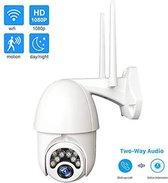 1080P Wifi Beveiligingscamera - Draadloze PTZ IP-camera - 2.0MP Speed Dome - Tweerichtingsaudio - Waterdicht - Gratis APP