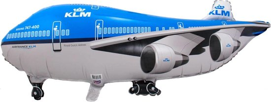 Helium Ballon KLM Vliegtuig 95x45cm leeg