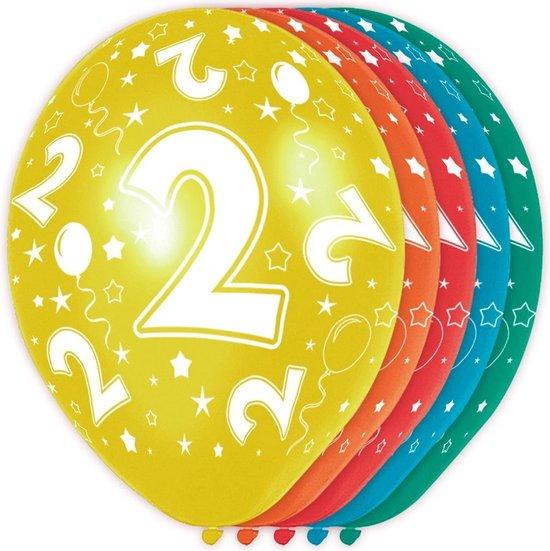 Ballonnen 2 Jaar Versiering 30cm 5 Stuks