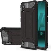 Armor Hybrid Samsung Galaxy A10 Hoesje - Zwart