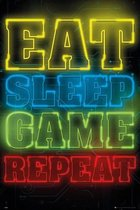 GBeye Gaming Eat Sleep Game Repeat Poster 61x91,5cm