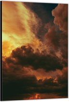 Dibond –Wolken– 60x90cm Foto op Aluminium (Met Ophangsysteem)