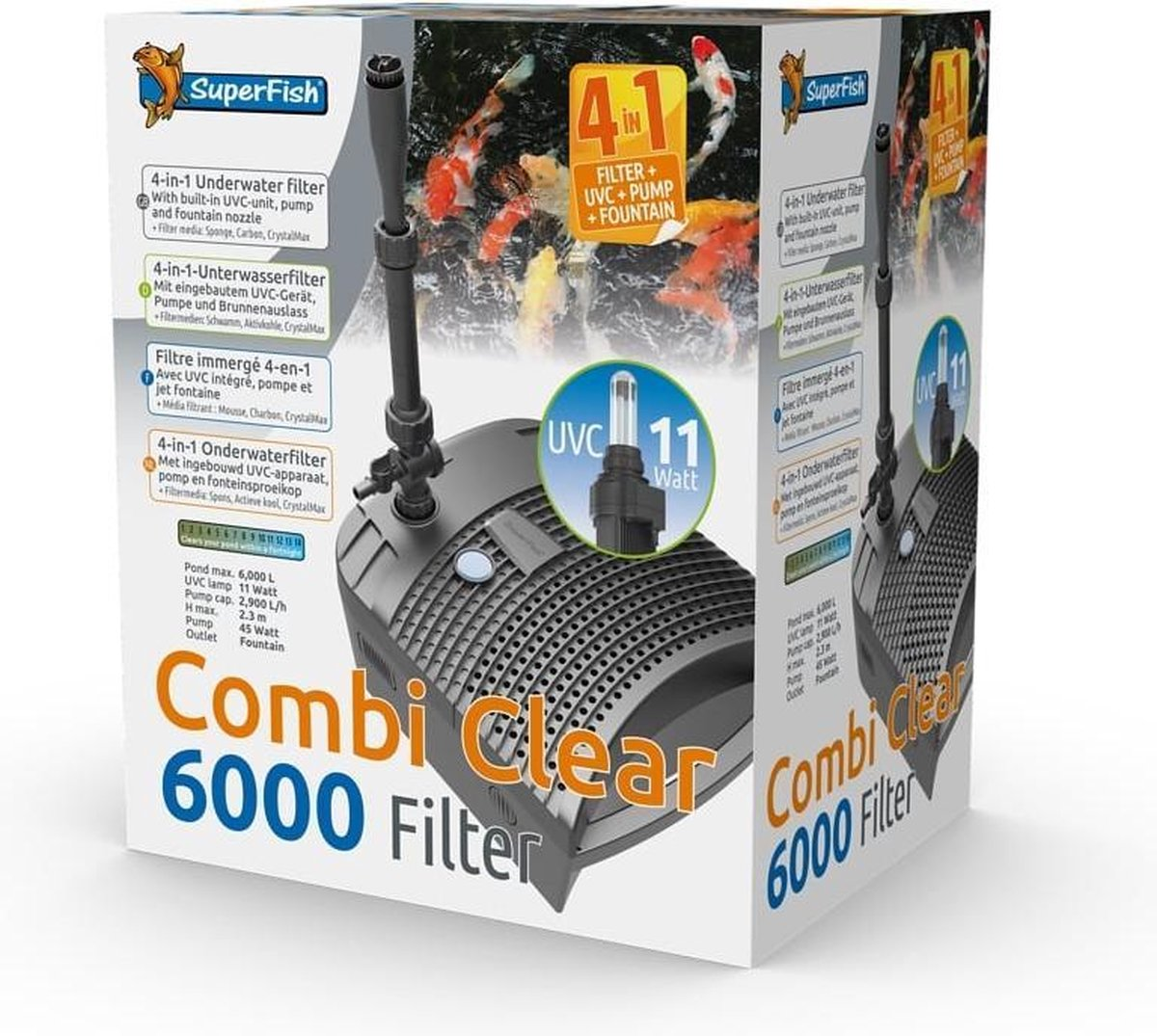 Superfish Combi Clear 6000 - uvc 11 watt - 2900 l/uur kopen