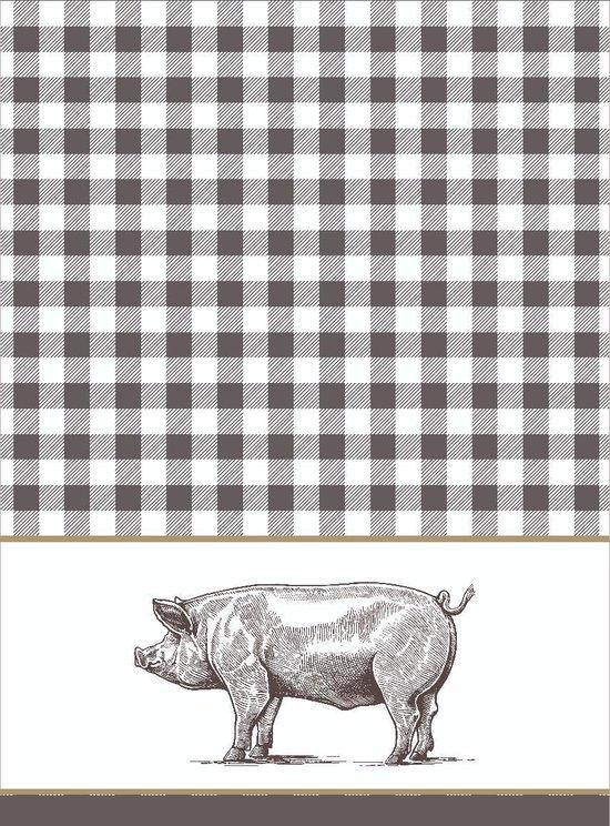 Clarysse Theedoeken Pig Grijs 50x70cm 6 stuks