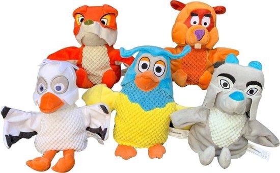Pluche Fabeltjeskrant Lowieke de Vos handpop knuffel 25 cm speelgoed - Fabeltjeskrant poppen - Vossen bosdieren knuffels - Poppentheater speelgoed kinderen