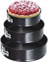 BasketMate - Bakvorm - Metaal - Zwart - Met Anti-Aanbaklaag - 3 Stuks
