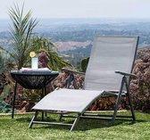 Zonnestoel zonnebank comfort – verstelbaar-kantelbaar-opvouwbaar – 177,5x50x30
