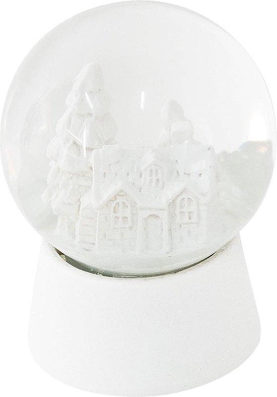 Clayre & Eef Sneeuwbol 64256 Ø 5*6 cm - Wit Polyresin / glas Snowglobe
