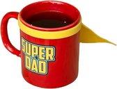 Thumbsup! Mok Super Dad 350 Ml Keramiek 12.3 Cm Rood/geel