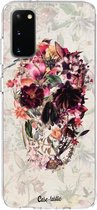 Samsung Galaxy S20 hoesje Flower Skull Casetastic Smartphone Hoesje softcover case