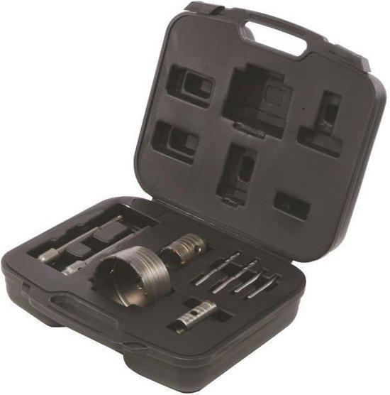 Silverline 9-delige TCT kernboor set 30, 50 en 110 mm - Silverline