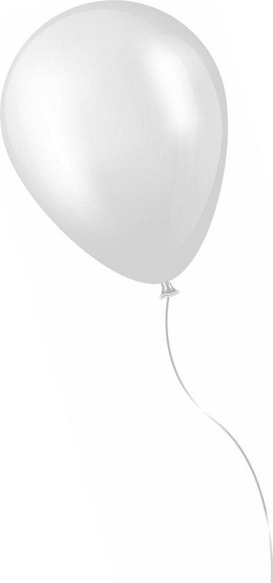 500 stuks witte ballonnen - decoratie - latex - helium - feest - wit - ballon