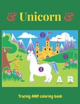 Unicorn Tracing and Coloring book