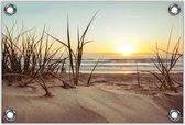 Tuinposter –Zand op het Strand -120x80  Foto op Tuinposter (wanddecoratie voor buiten en binnen)