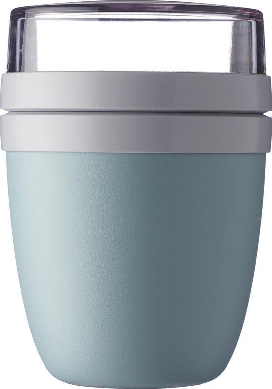 Mepal – Lunchpot Ellipse – Praktische muesli beker to go – Nordic green – Geschikt voor vriezer, magnetron en vaatwasser.