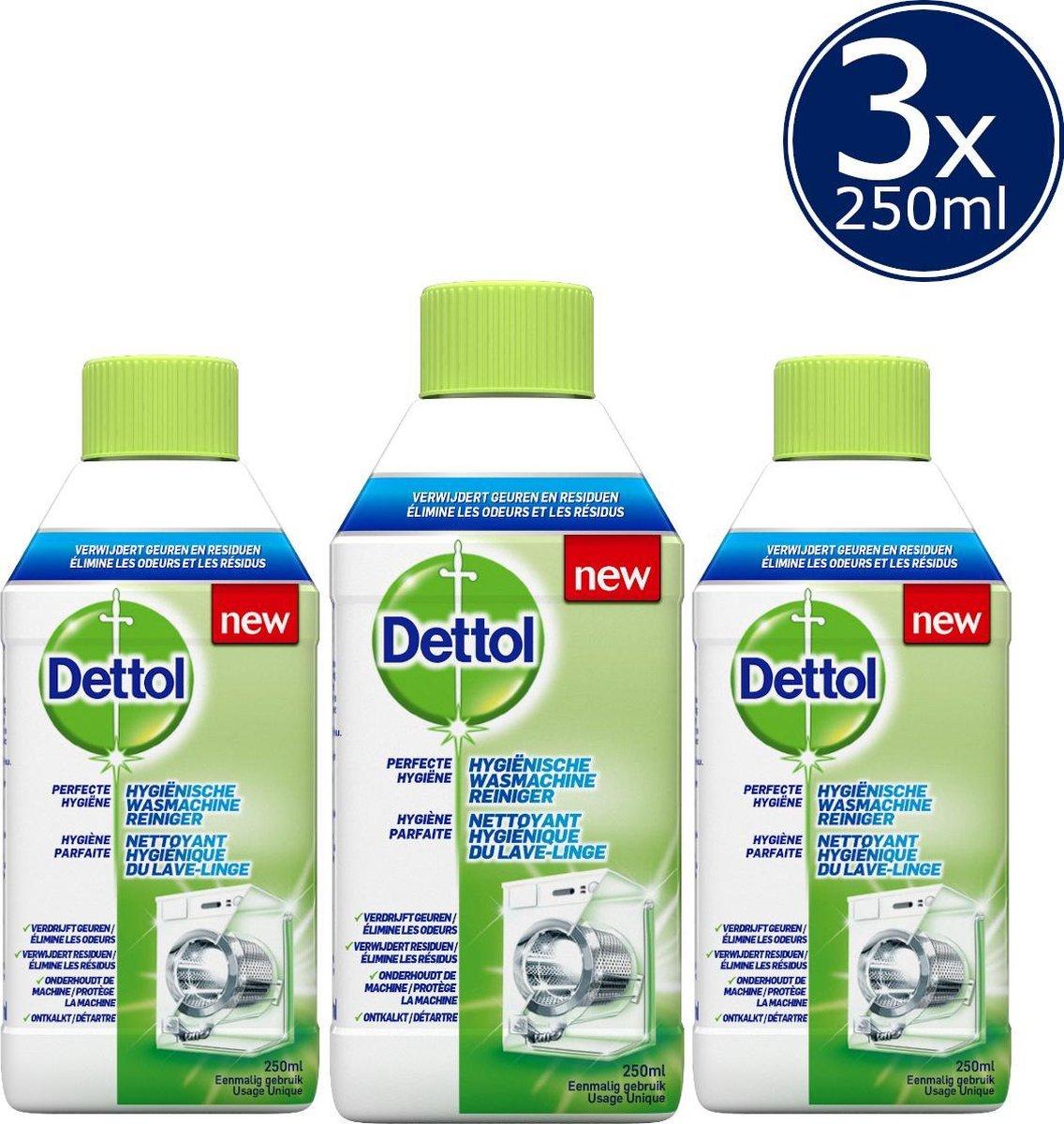 Dettol Hygiënische Wasmachine Reiniger - 3 x 250 ml