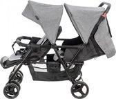 Moby-System Dubbele Kinderwagen - Zwart - Tweeling - Duo - Kinderwagen / Buggy