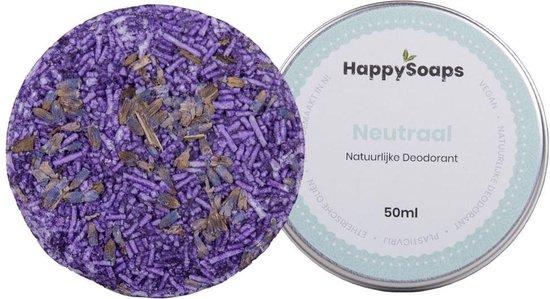 SET HappySoaps Natuurlijke deodorant NEUTRAAL en shampoo bar LAVENDEL|Vegan, Natuurlijk en handgemaakt