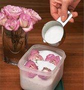 Fijne silica gel korrels 1-2mm voor het drogen van bloemen.