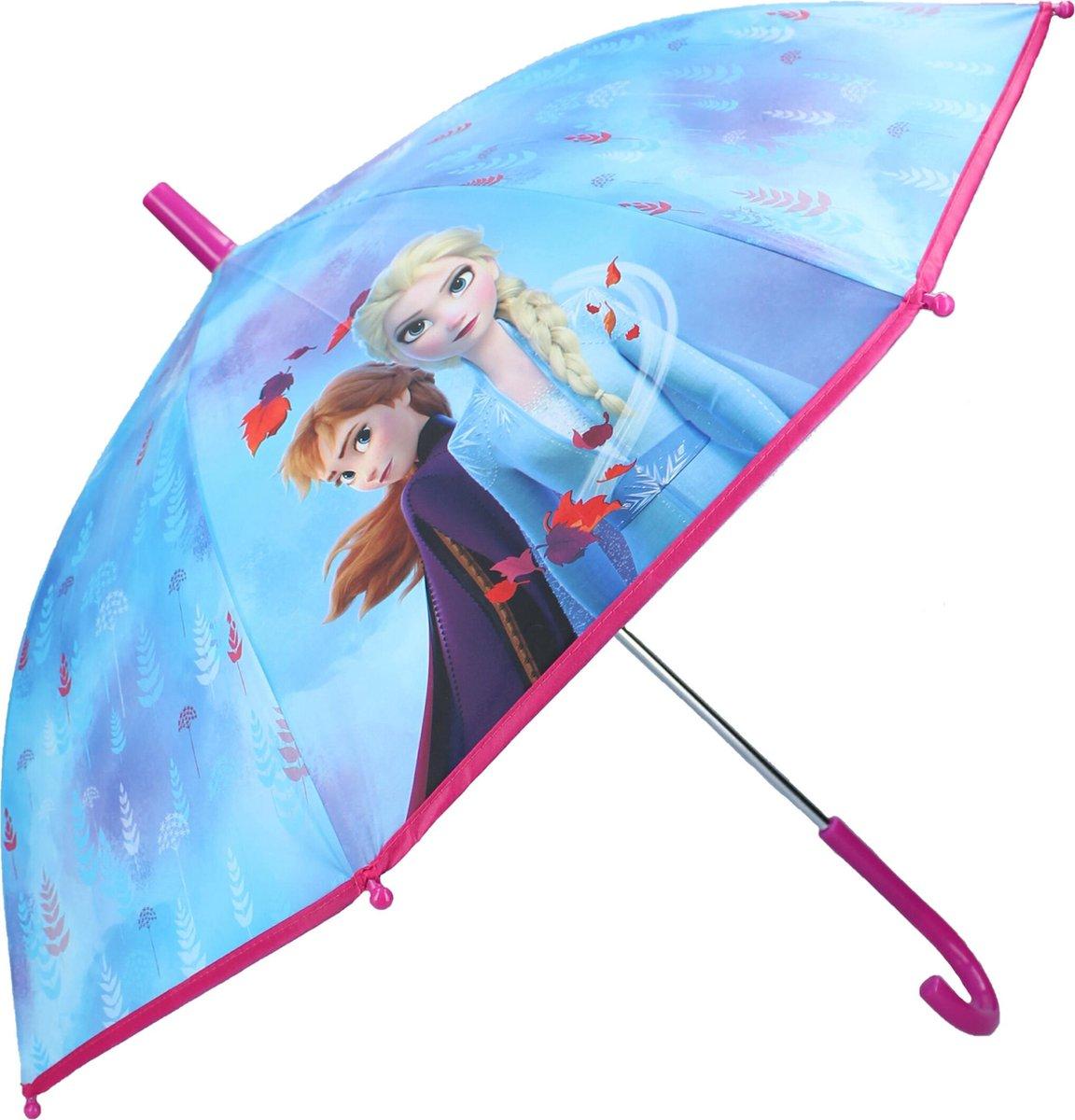 Disney Frozen II Don't Worry About Rain Paraplu - 63 x 70 x 70 cm - Blauw