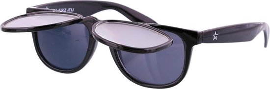 Space Zonnebril - Spacebril Klepje - Caleidoscoop Bril - Kaleidoscoop Bril - Diffractie Bril - Zwart