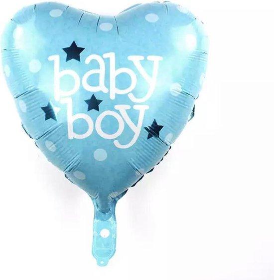 Folie ballon baby boy gevuld met helium
