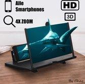 Vergrootglas voor Smartphone - Beeldscherm Vergroter HD - Telefoon Vergrootglas - Schermvergroter - Thuis Bioscoop - Beeldschermvergroter - 3D - Compact Inklapbare Telefoonscherm Universeel