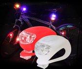 Fietslampjes LED - 2 x Set Wit en Rood - Inclusief Batterijen