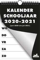 Spiraal weekkalender Hobbit D2 schoolplanner A5 basic 2020 - 2021 zwart (formaat A5)