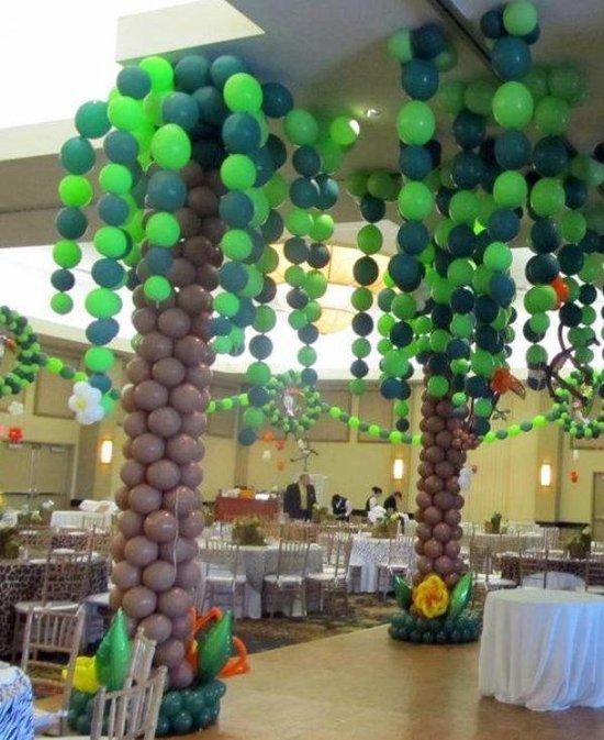 200 Palmboom ballonnen - jungle ballonnen - Camouflage ballonnen - Partyballonnen - o.a. ballonnen groen - verjaardag ballonnen - themafeest - voor ballonnenboog.