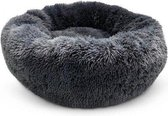 Snoozle Donut Hondenmand - Superzacht en Luxe - Wasbaar - Fluffy - Hondenkussen - Hondenbed - 60cm - Grijs