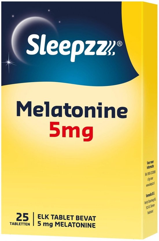 Sleepzz Melatonine 5mg Voedingssupplement - 25 tabletten