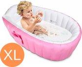 Opblaasbaar Badje - Babybadje - Badkuip - Zwembad - Buitenbad - Opvouwbaar Bad - Kinderbadje - Opblaasbaar Bad Zitje - Repair Kit - Roze