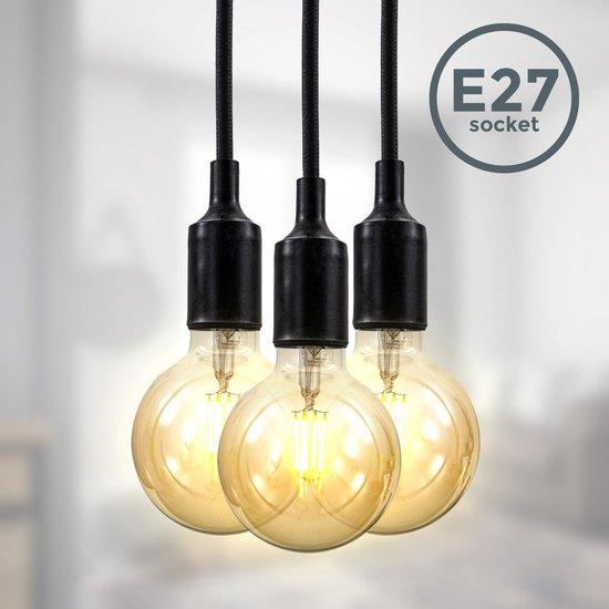 Bol Com B K Licht Hanglamp Industrieel Zwart Retro Eetkamer Verlichting L 2m