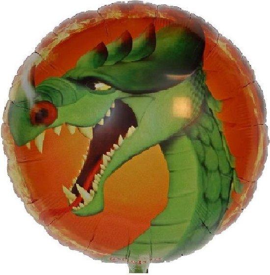 Folie ballon Draak 18 inch/45 cm