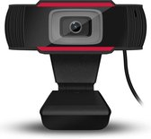 Webcam Full HD - 1080p - USB Webcam met Microfoon - Webcam voor PC of Laptop - Geschikt voor Windows en Mac - Zwart
