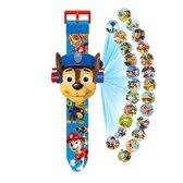 PAW Patrol Chase Projector Horloge - Digitale Kinder Horloge - Speelgoed Watch- Marshall - Rubble - Sinterklaas cadeau