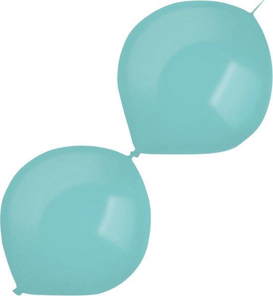 Amscan Slingerballonnen 30 Cm Latex Lichtturquoise 50 Stuks