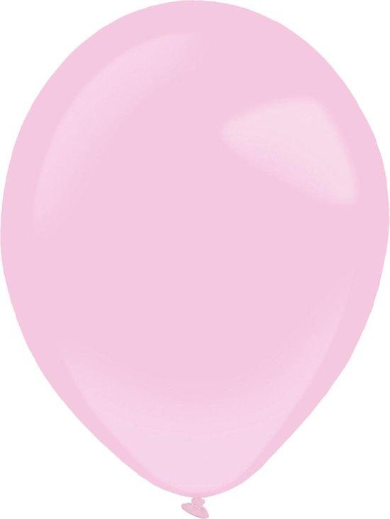 Amscan Ballonnen 35 Cm Latex Lichtroze 50 Stuks