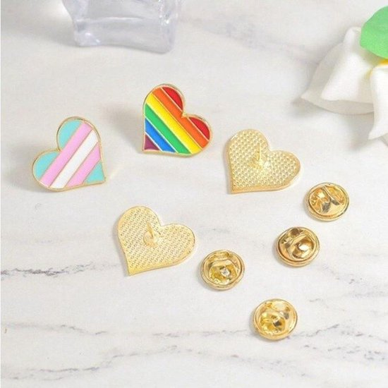 Pride Biseksueel Kledingspeld - Gay Pride - Bi Pin Broche - 1 stuks