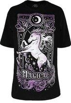 Restyle Top -M- Magical Unicorn Zwart