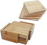 Bamboo Bamboe Onderzetters - Voor Glazen - 6 Stuks