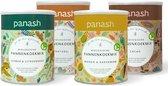 Cacao, Naturel, Mango & Kardemom en Gember & Citroengras - Panash pannenkoekmixen - 4x 400 gram pannenkoekmix