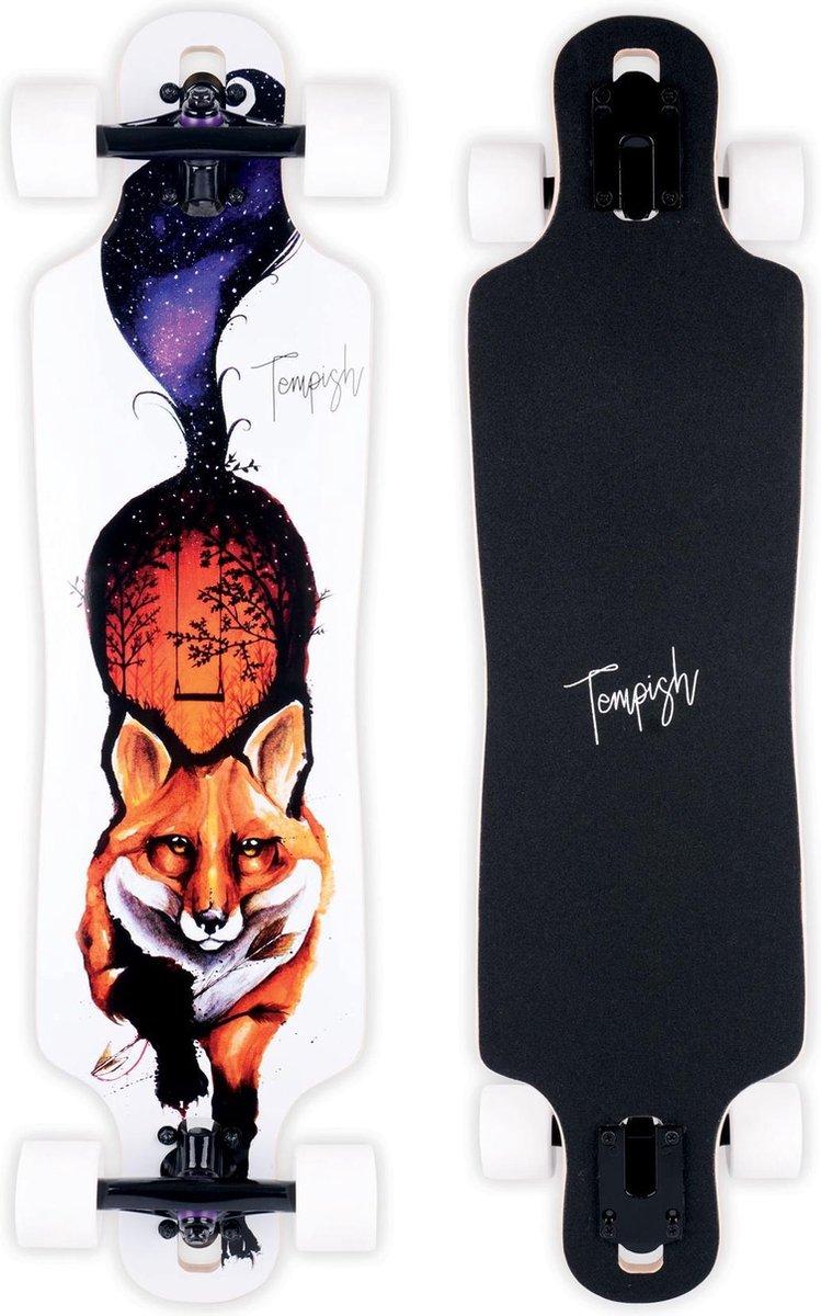 Tempish Longboard Fox 82,5x21,5 Cm Hout Wit/zwart